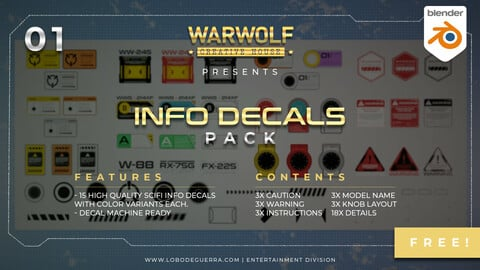 Warwolf Info Decals Pack 01