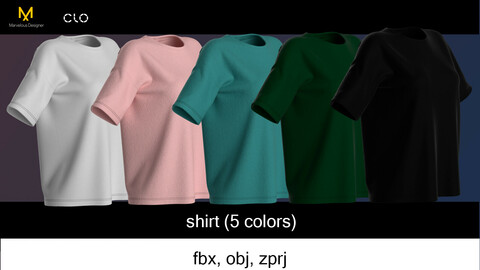 T-shirt in 5 colors (colorway)