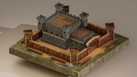 Medieval Castle Level 5 3D Model