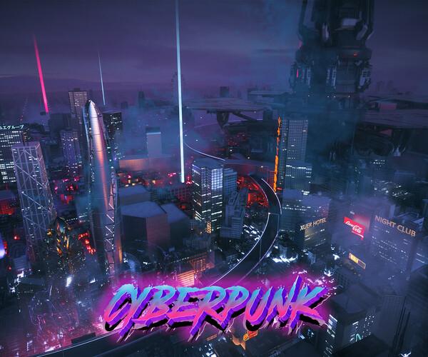 ArtStation - C4D Octane render Cyberpunk city Magic Wonder Skyscrapers CBD japan neon | Resources