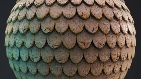 PBR - OLD PAINTED WOODEN ROOF - 4K MATERIAL