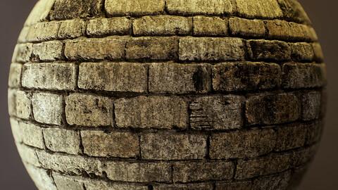 PBR - DIRTY STONE WALL, MUD - 4K MATERIAL