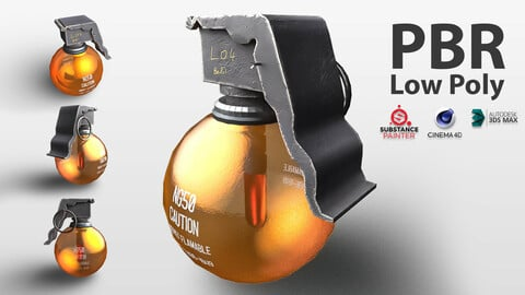 SCI FI Grenade Highly Flamable