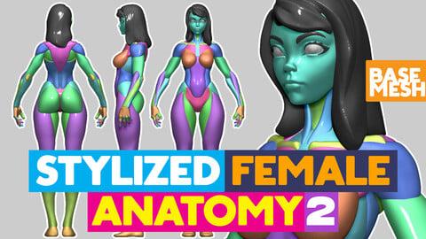Stylized Female Anatomy base mesh 2