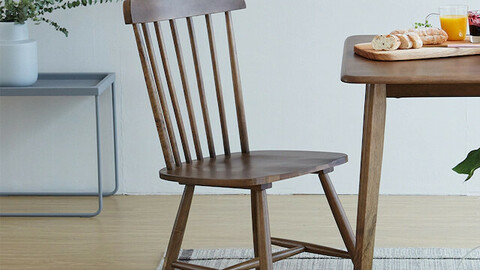 Tone Rubber Wood Solid Wood Design Windsor Chair