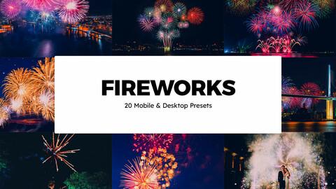 20 Fireworks LUTs and Lightroom Presets