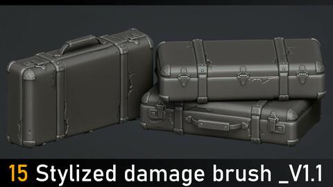 15 Stylized damage brush _V1.1