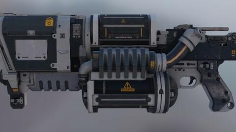 Futuristic Sci Fi GUN AXIS Low-poly 3D model