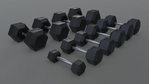 PBR Hexagon Dumbbell 2.5KG-30KG