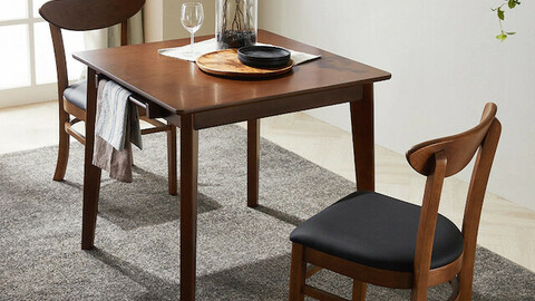Mones rubber wood solid wood modern Nordic dining table set