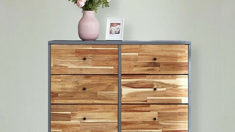 Vince solid wood chest of drawers