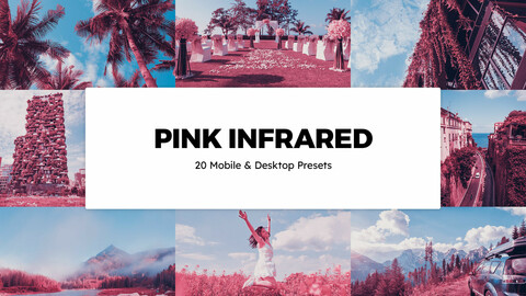20 Pink Infrared LUTs and Lightroom Presets
