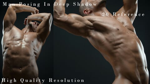 Man Posing In Deep Shadow