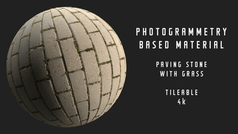 001 Paving stone - Photogrammetry based material