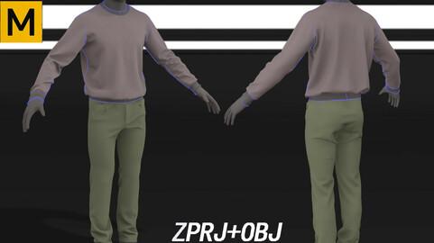 Man s sweatshirt pants streetwear suit [Marvelous Designer project Zprj]