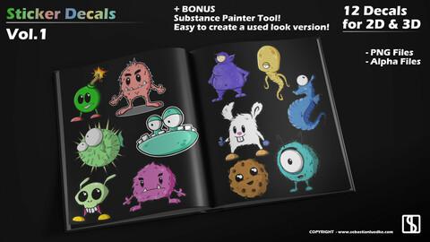 Cartoon Sticker - Decals Vol.1