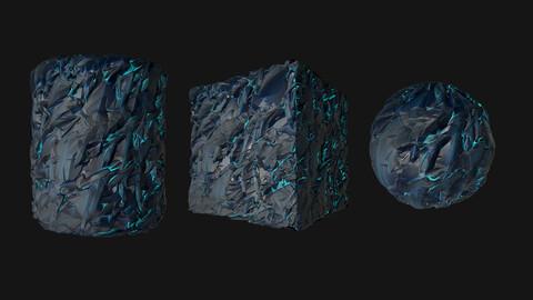 Stylized Crystal PBR Texture.