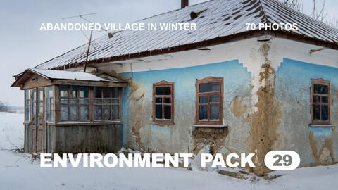 Env Pack 29 / Abandoned village in winter / Reference pack