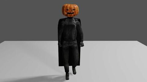 Halloween - Jack O Lantern - Man Low-poly 3D model