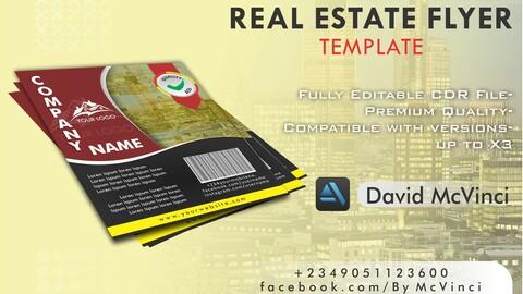Real Estate Flyer Design CDR Template