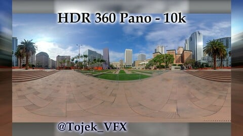 HDR 360 Panorama - DTLA - 57 Pershing Square North side