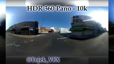 HDR 360 Panorama - DTLA - 106 Corner of Wall and Boyd - the Corner Plug