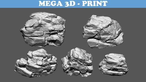 Rock 3D Model 3D print model Pack A 210707