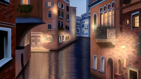 Digital Illustration - Venice
