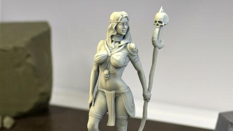 Shaman Girl STL for 3D printing .