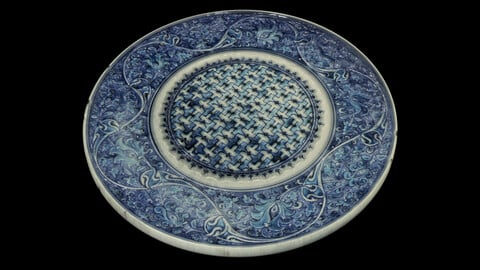 Iznik Dish (mid-16th century) Material .sbsar