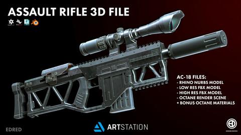 AC-18 ASSAULT RIFLE 3D MODEL