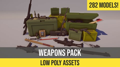 Low Poly FPS Weapons Pack