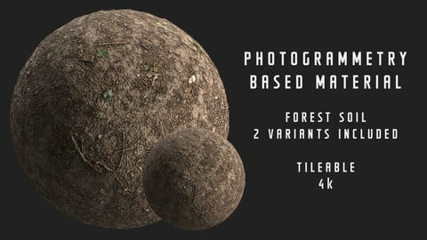008 Forest ground - Photogrammetry based material