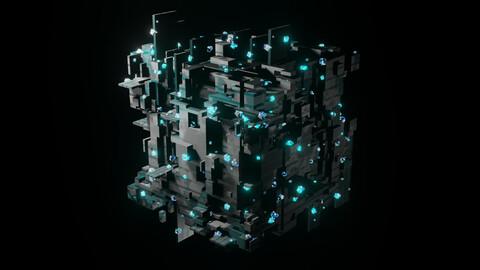 Glowing Sci-Fi Cube