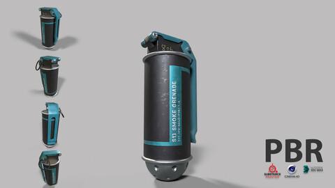 SCI FI Smoke Grenade LowPoly