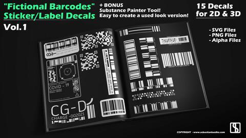 15 Fictional Barcode Decals Vol.1