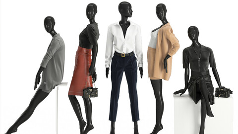 womens business suits on mannequins