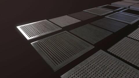 Floor Grate Pack 1 Only [Middle Size - 12 Grates + Variation]