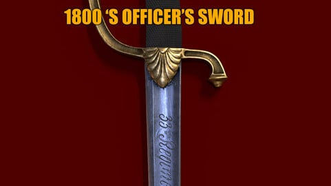 1800's French officers sword