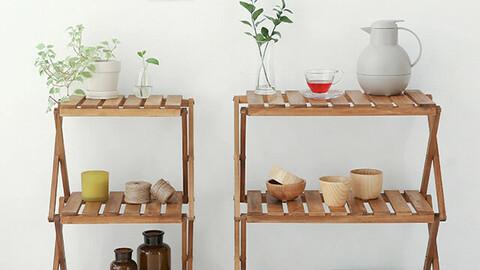 DUGLAS Shelf 3-Step Acacia