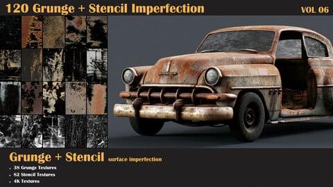 120 Grunge + Stencil Imperfection-VOL 06