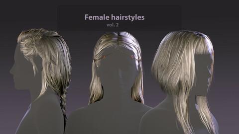 Realtime female hair vol. 02