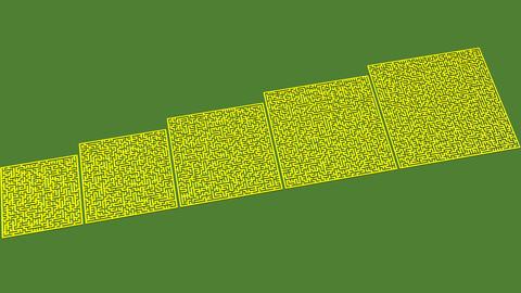 Smart mazes 61x61 to 101x101 (laberintos inteligentes 61x61 a 101x101)