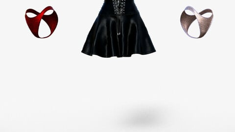 Black Leather Gothic Skirt and Leather Top looks