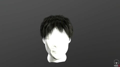 Real-time hair 2 Low-poly