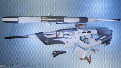 "ZerTech ""SKADI"" sci-fi weapon rifle"