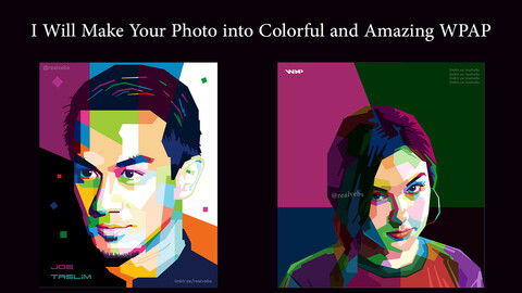 Colorful and Amazing WPAP Pop Art