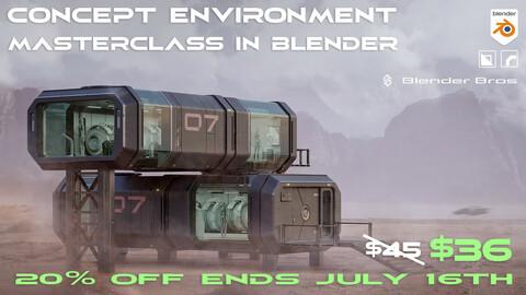 Concept Environment Masterclass in Blender