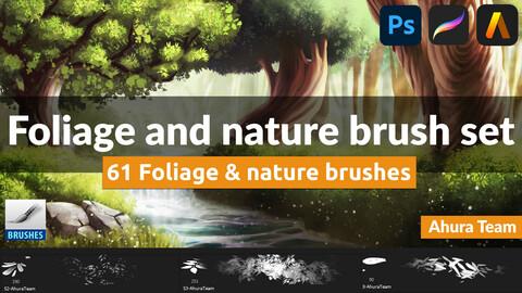 Foliage and nature brush set