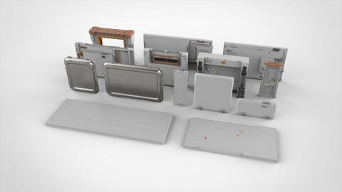 sci-fi Architecture kitbash 33